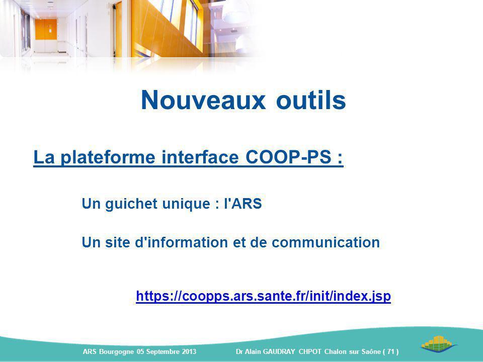 Nouveaux outils La plateforme interface COOP-PS :
