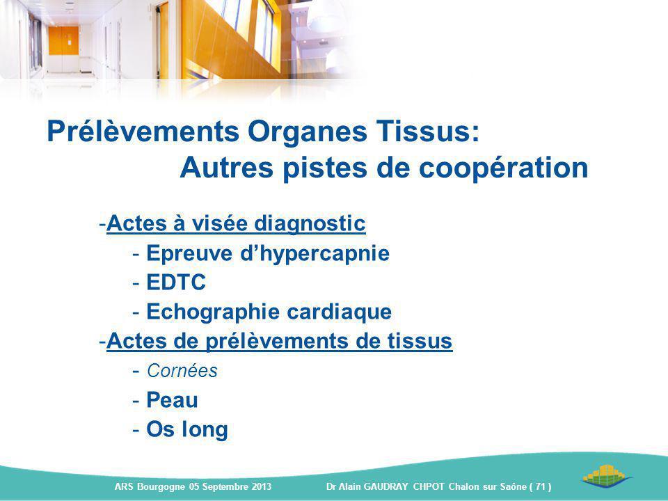 Prélèvements Organes Tissus: Autres pistes de coopération