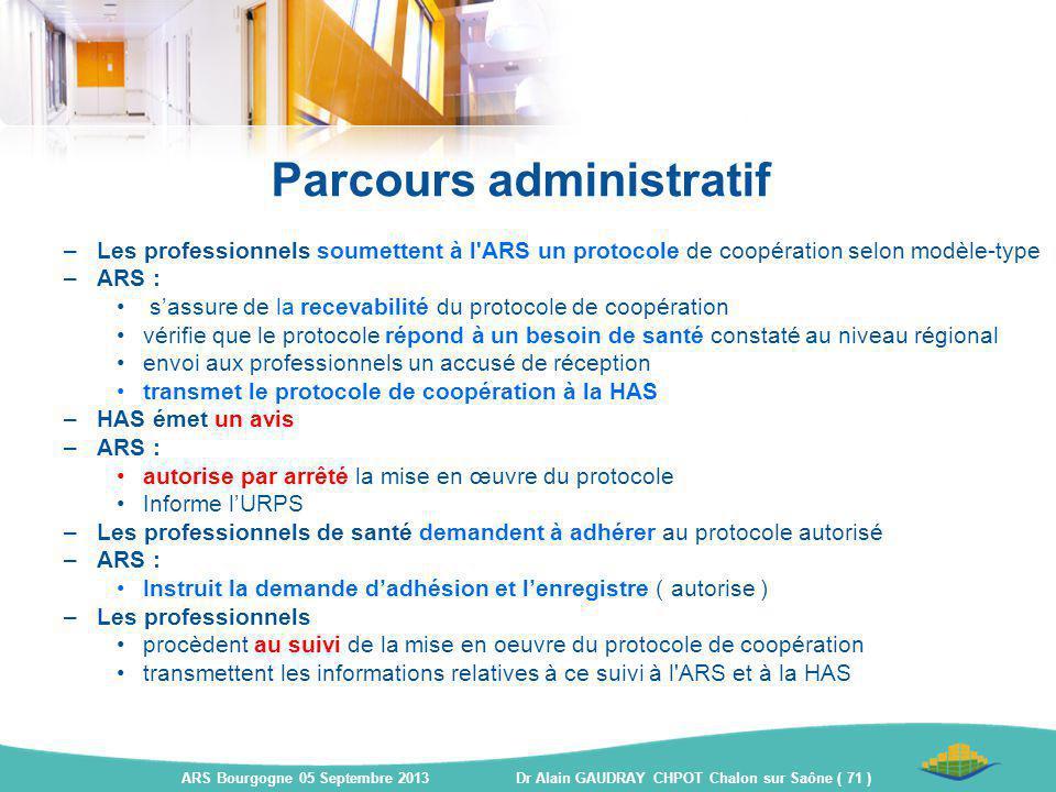 Parcours administratif