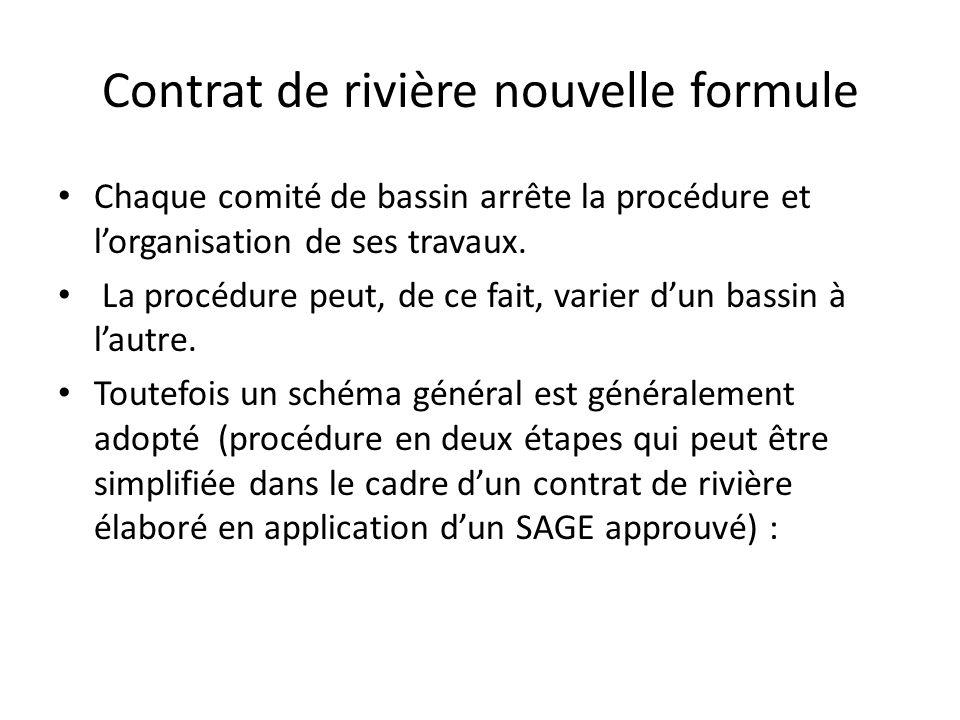Contrat de rivière nouvelle formule