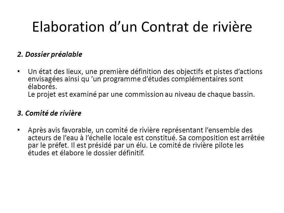 Elaboration d'un Contrat de rivière