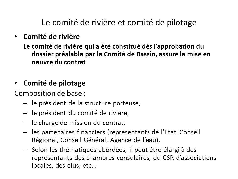 Le comité de rivière et comité de pilotage