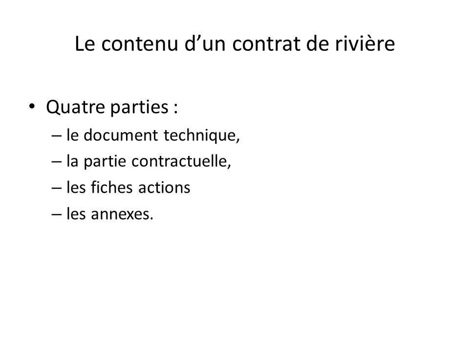 Le contenu d'un contrat de rivière