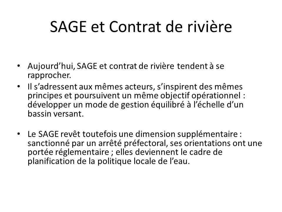 SAGE et Contrat de rivière