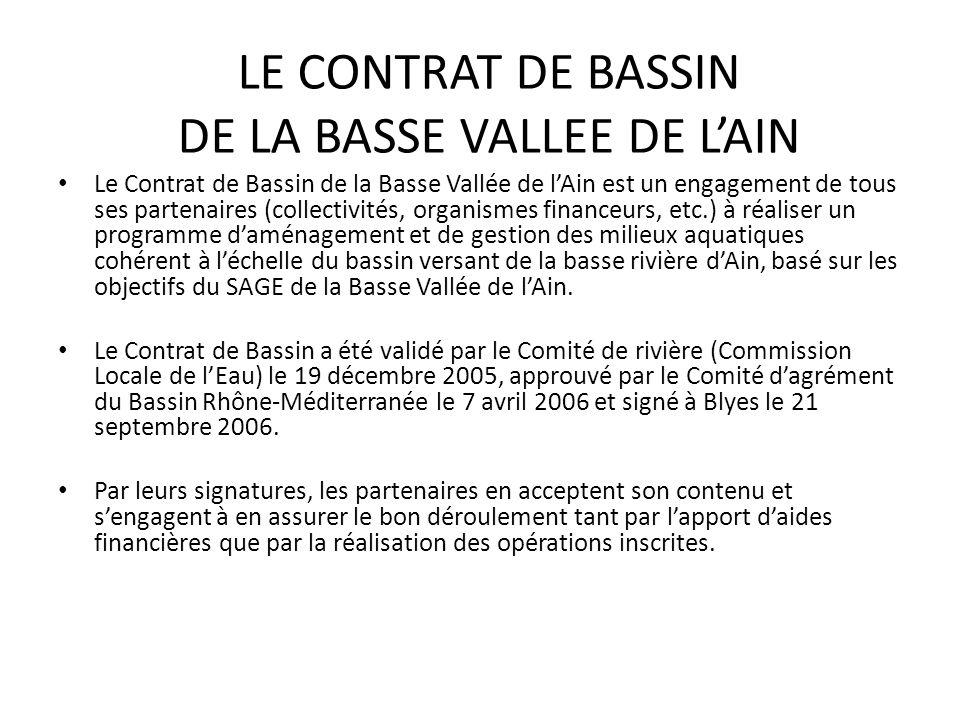 LE CONTRAT DE BASSIN DE LA BASSE VALLEE DE L'AIN