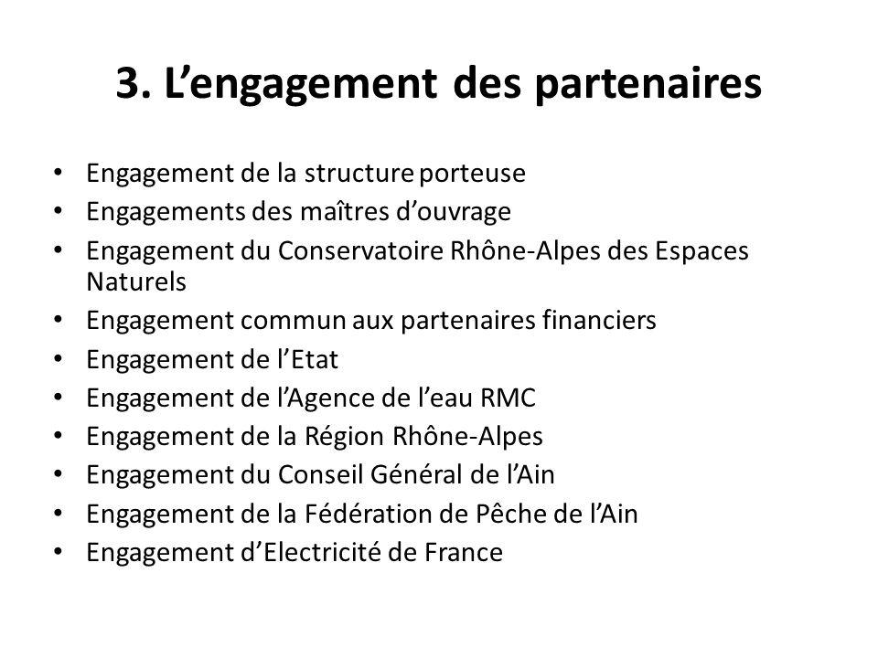3. L'engagement des partenaires