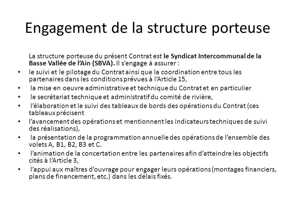 Engagement de la structure porteuse