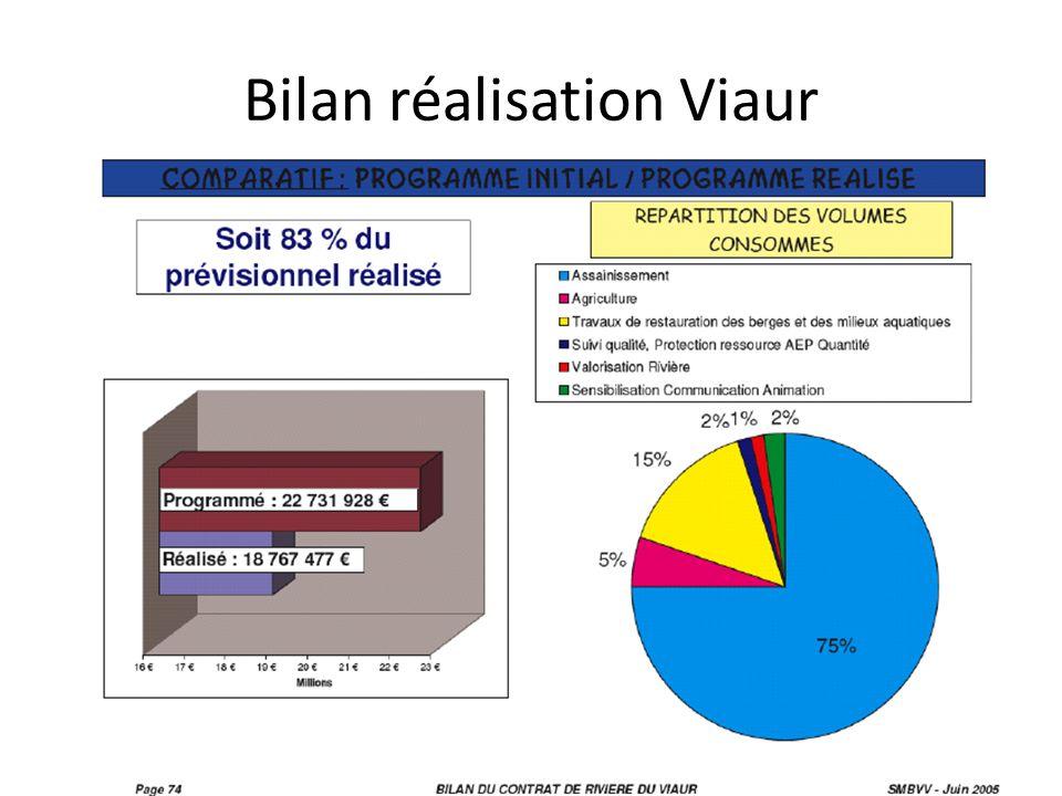 Bilan réalisation Viaur