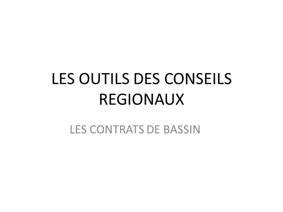 LES OUTILS DES CONSEILS REGIONAUX