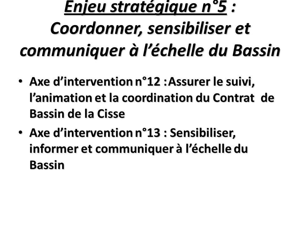 Enjeu stratégique n°5 : Coordonner, sensibiliser et communiquer à l'échelle du Bassin