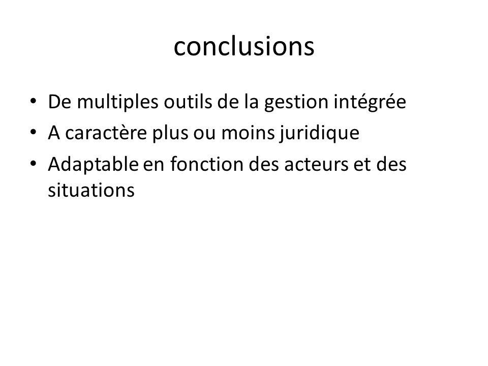 conclusions De multiples outils de la gestion intégrée
