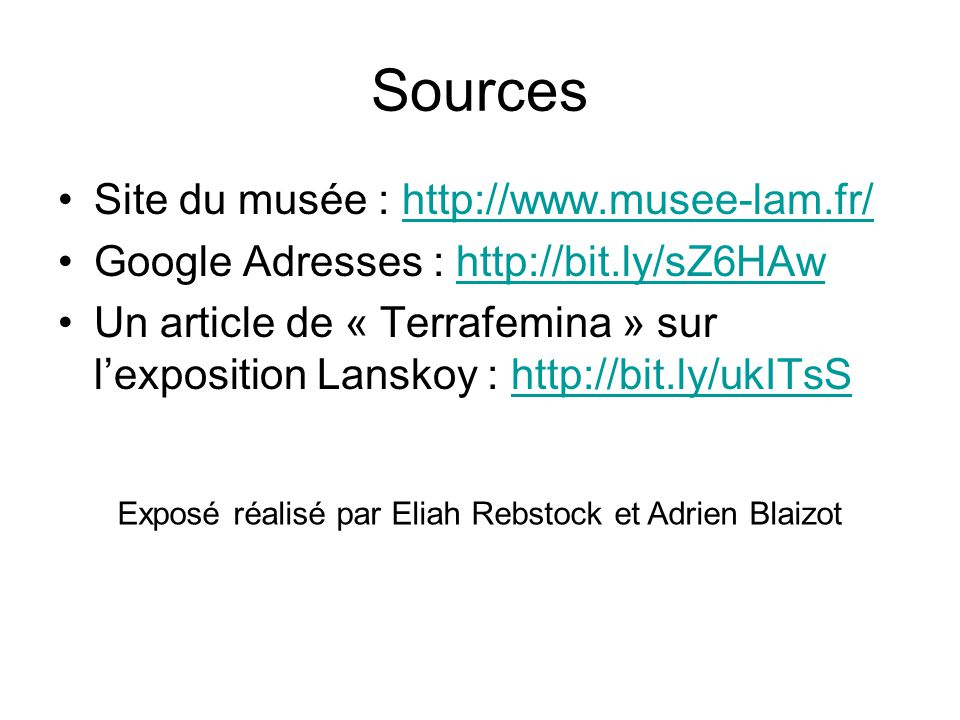 Exposé réalisé par Eliah Rebstock et Adrien Blaizot