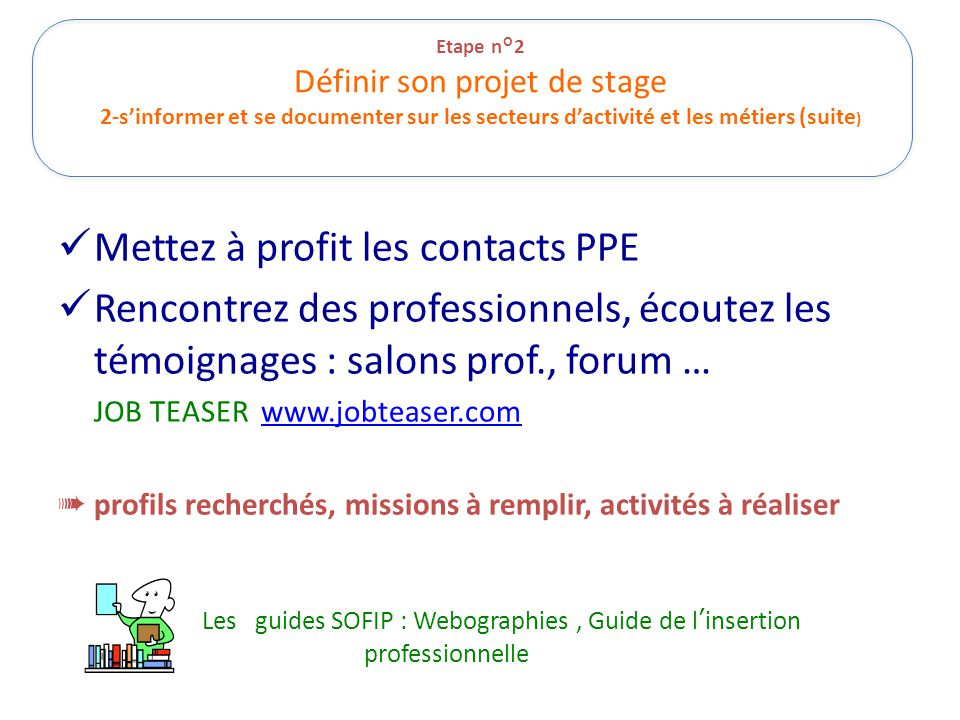 Mettez à profit les contacts PPE
