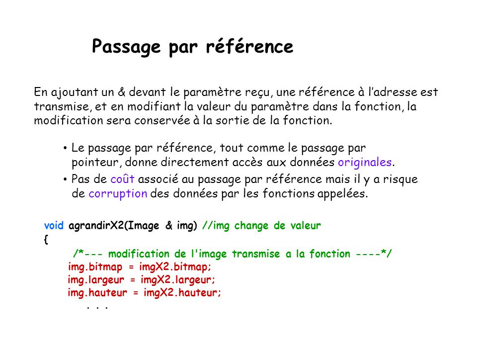 Passage par référence