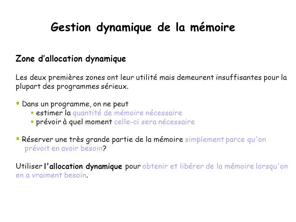 Zone d'allocation dynamique