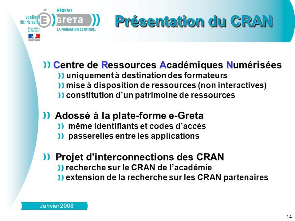 Présentation du CRAN Centre de Ressources Académiques Numérisées