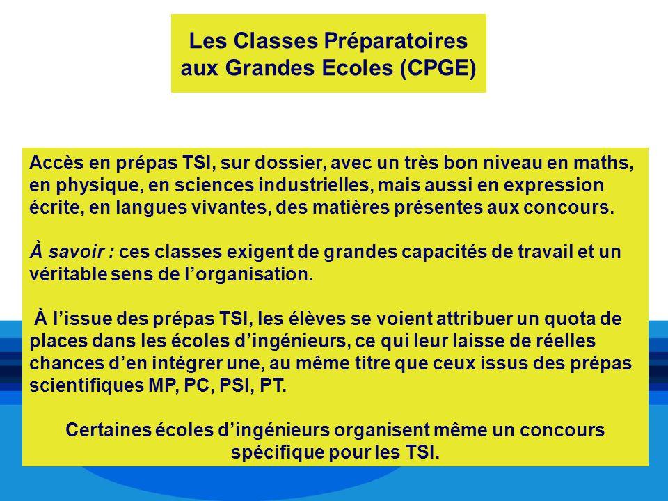 Les Classes Préparatoires aux Grandes Ecoles (CPGE)