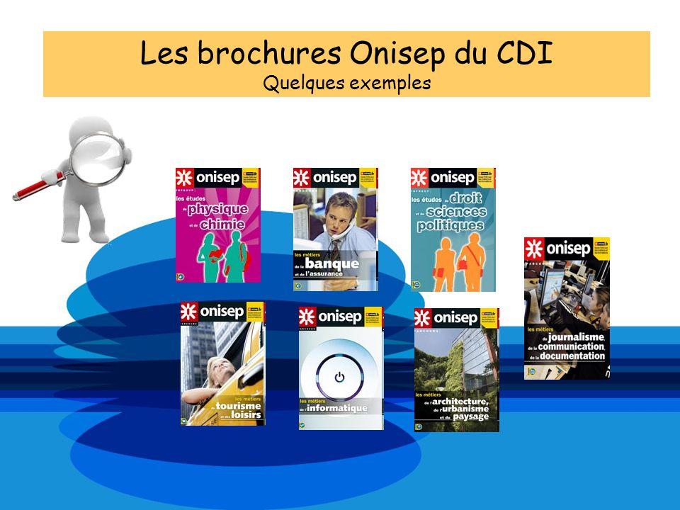 Les brochures Onisep du CDI Quelques exemples