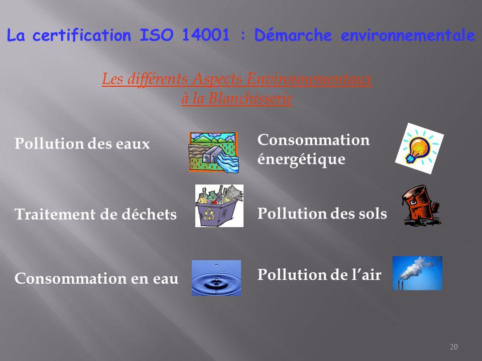 La certification ISO 14001 : Démarche environnementale