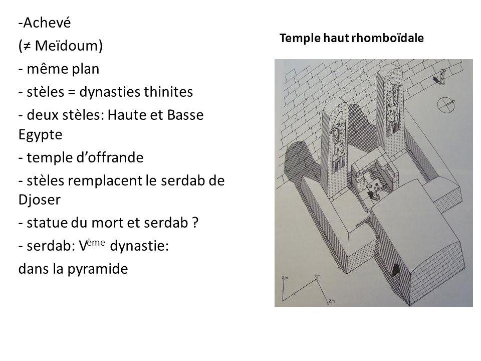 Temple haut rhomboïdale