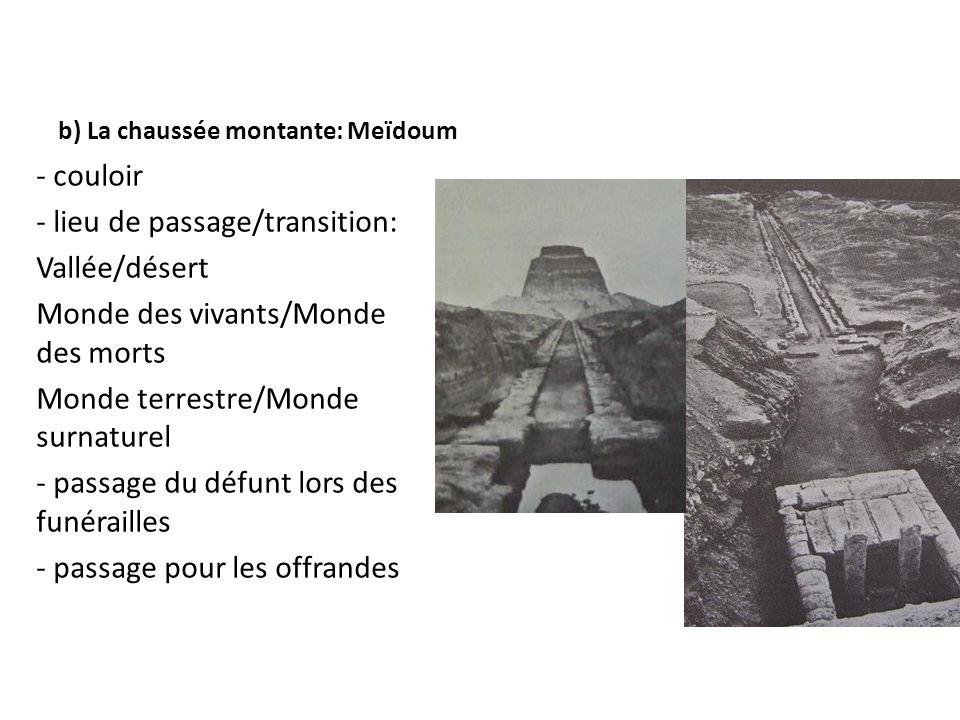 b) La chaussée montante: Meïdoum