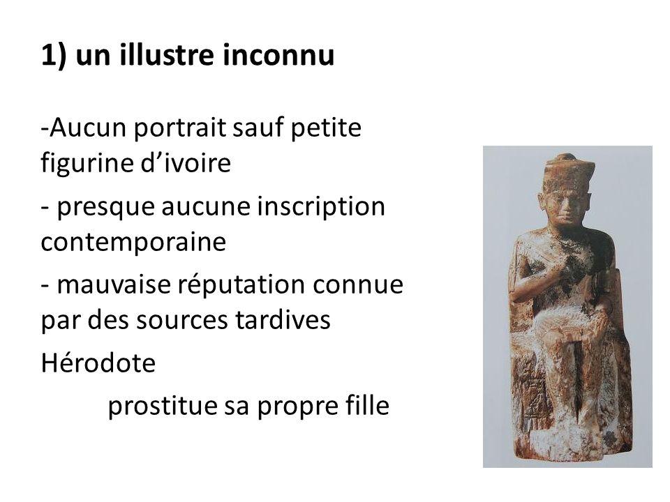 1) un illustre inconnu Aucun portrait sauf petite figurine d'ivoire