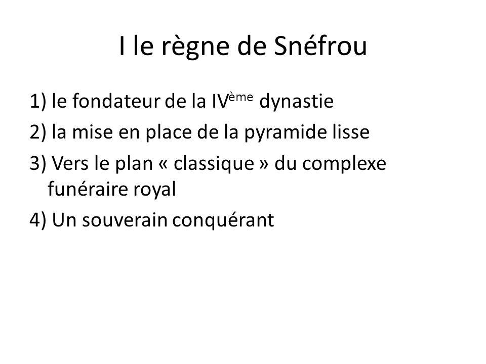 I le règne de Snéfrou
