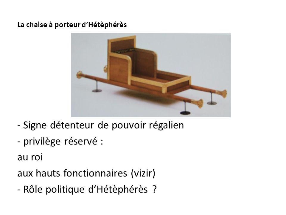 La chaise à porteur d'Hétèphérès