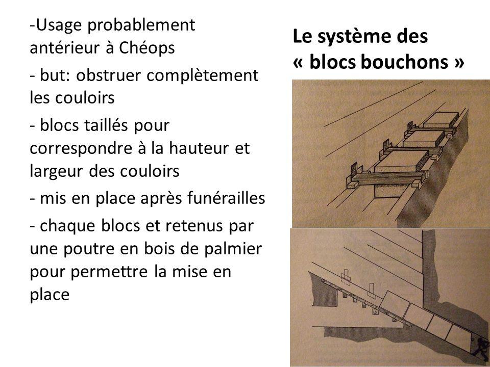 Le système des « blocs bouchons »