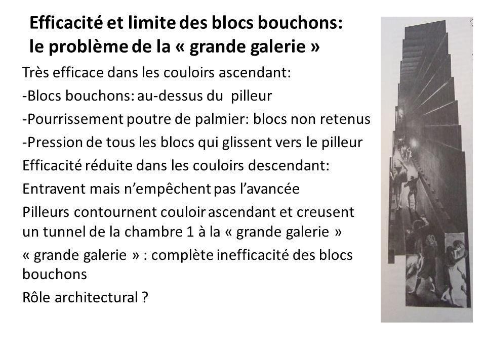 Efficacité et limite des blocs bouchons: le problème de la « grande galerie »