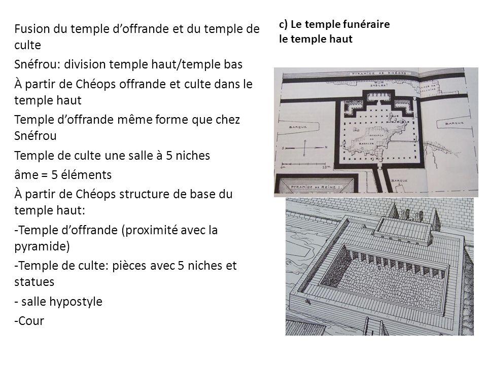 c) Le temple funéraire le temple haut