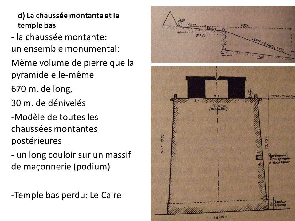 d) La chaussée montante et le temple bas