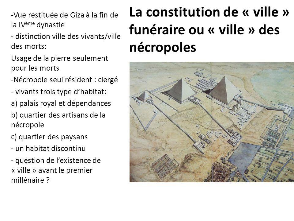La constitution de « ville » funéraire ou « ville » des nécropoles