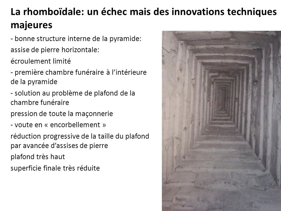 La rhomboïdale: un échec mais des innovations techniques majeures
