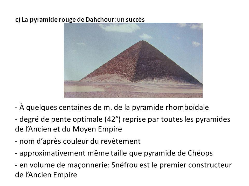 c) La pyramide rouge de Dahchour: un succès