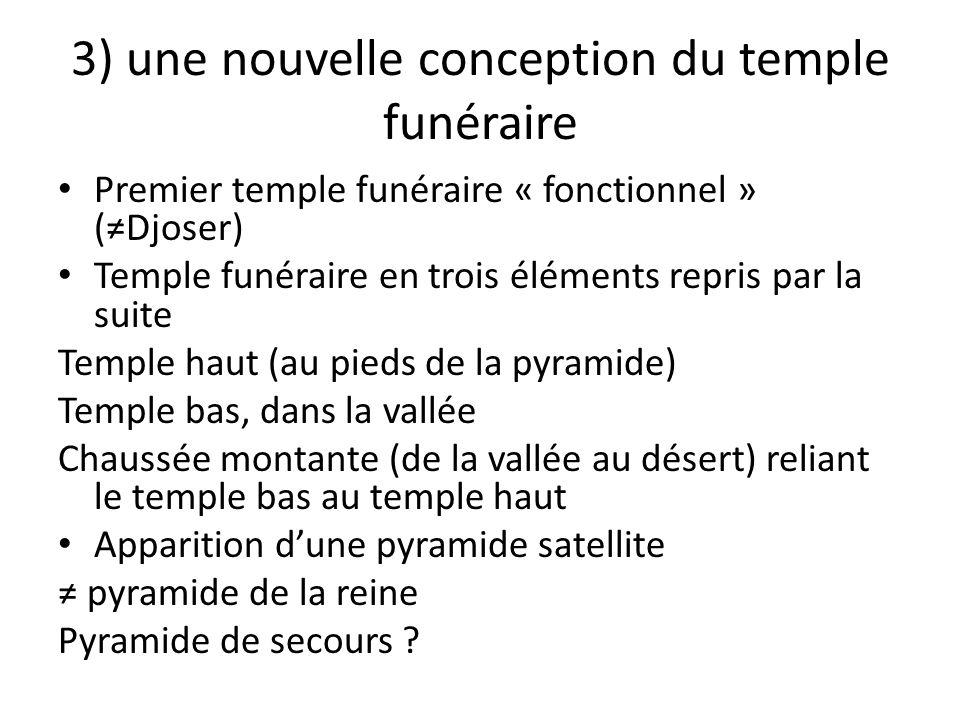 3) une nouvelle conception du temple funéraire