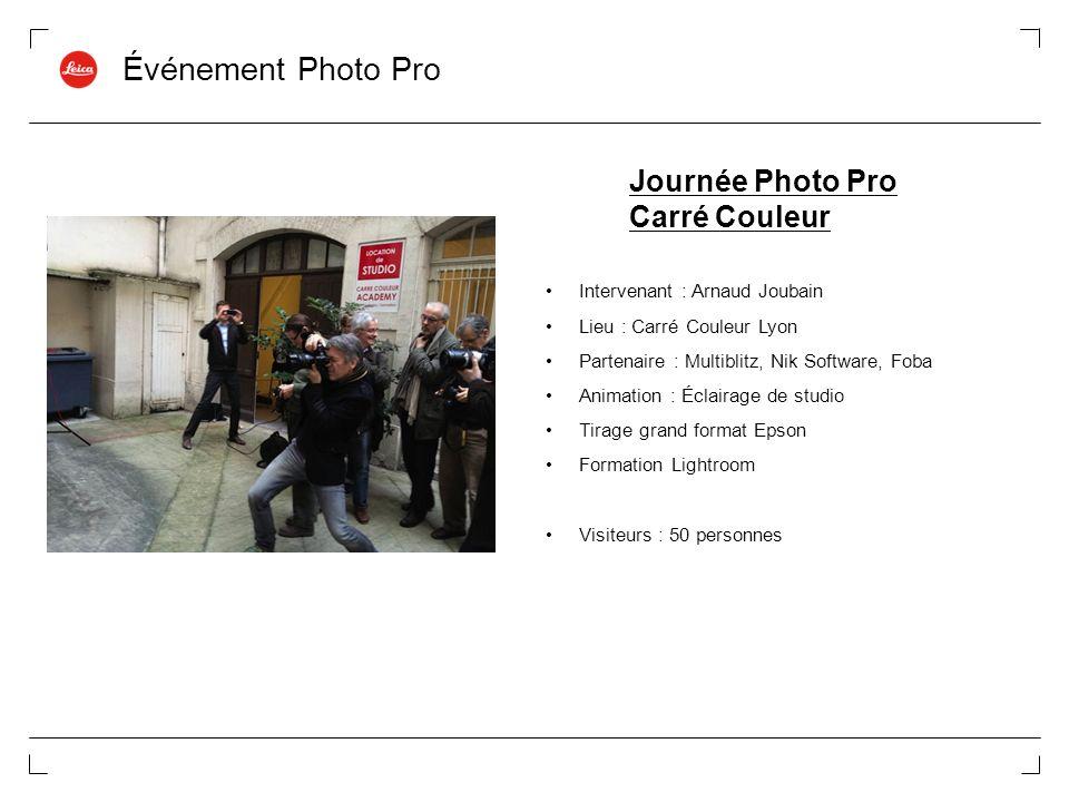 Événement Photo Pro Journée Photo Pro Carré Couleur
