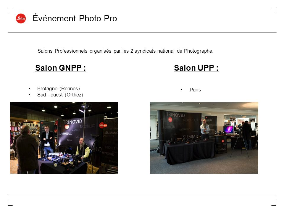 Événement Photo Pro Salon GNPP : Salon UPP :