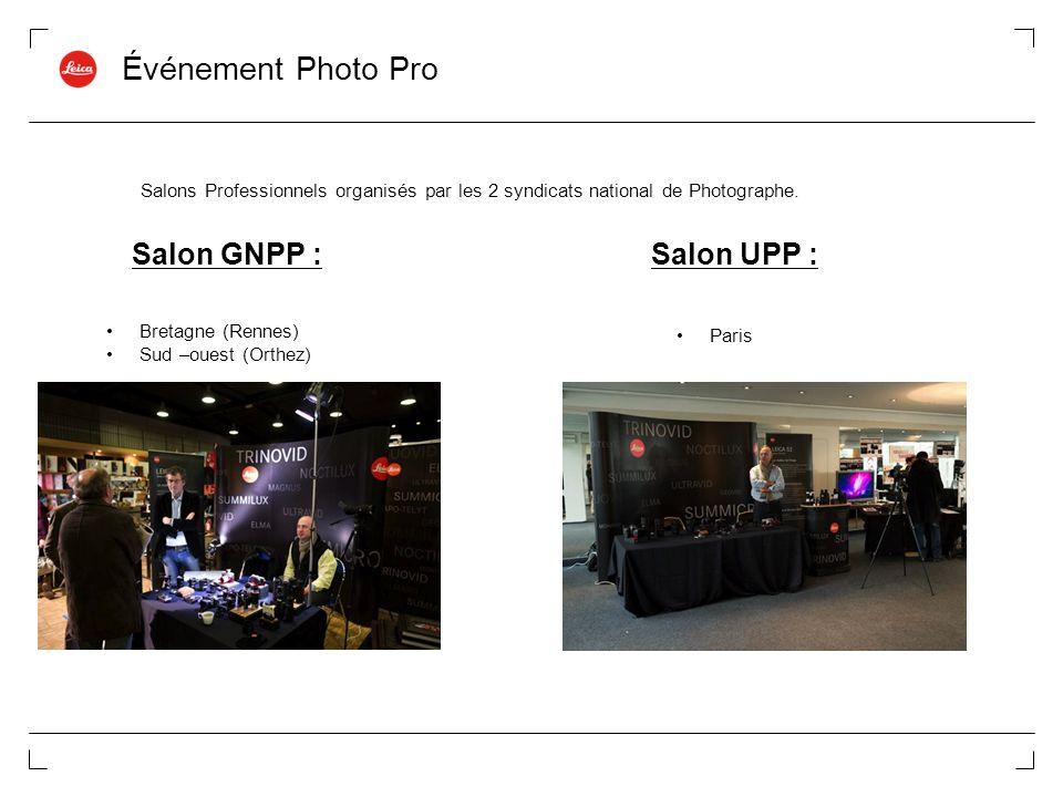 Événement Photo Pro Salon GNPP : Salon UPP :