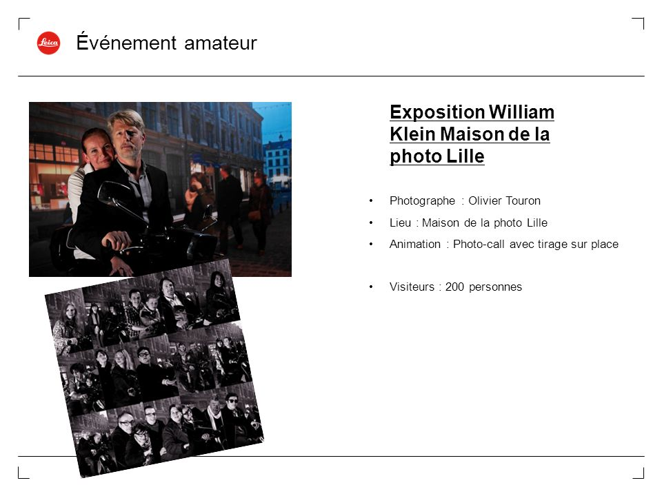 Événement amateur Exposition William Klein Maison de la photo Lille