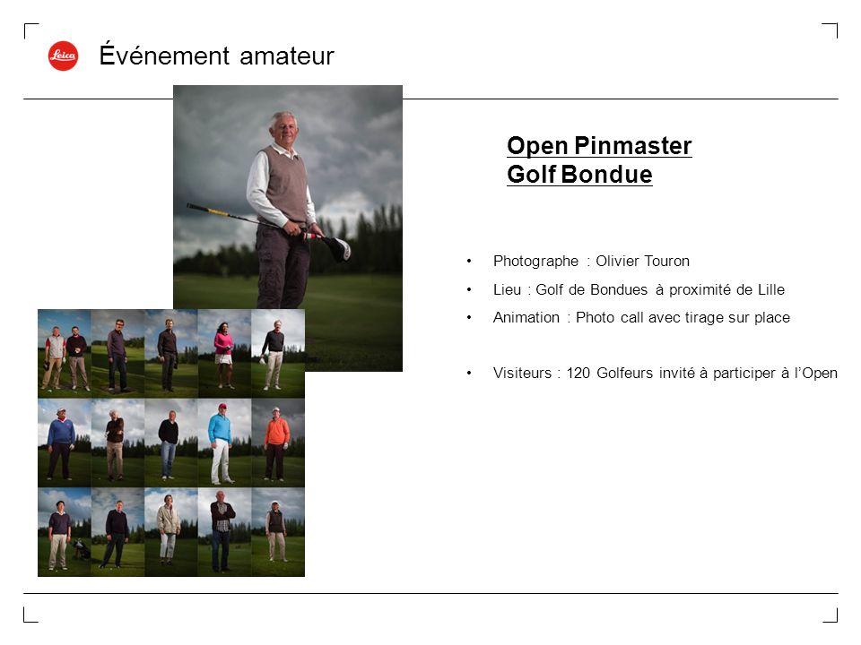 Événement amateur Open Pinmaster Golf Bondue