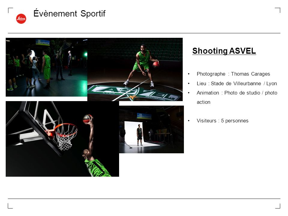 Évènement Sportif Shooting ASVEL Photographe : Thomas Carages
