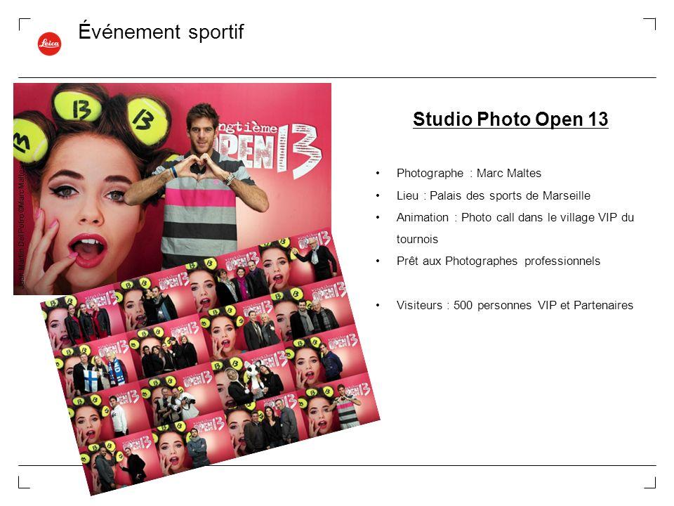 Événement sportif Studio Photo Open 13 Photographe : Marc Maltes