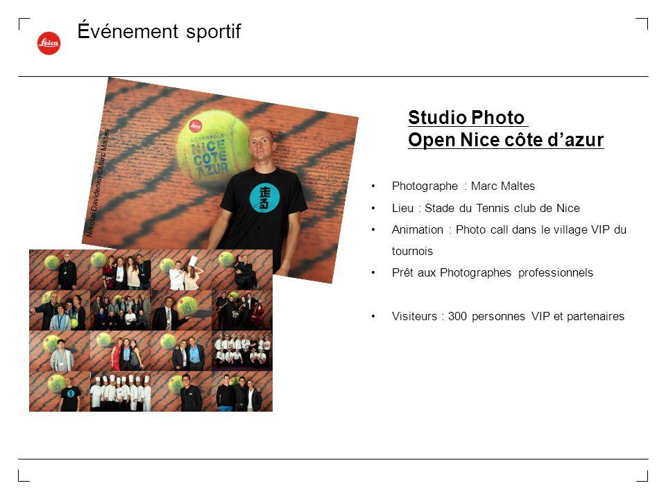 Événement sportif Studio Photo Open Nice côte d'azur
