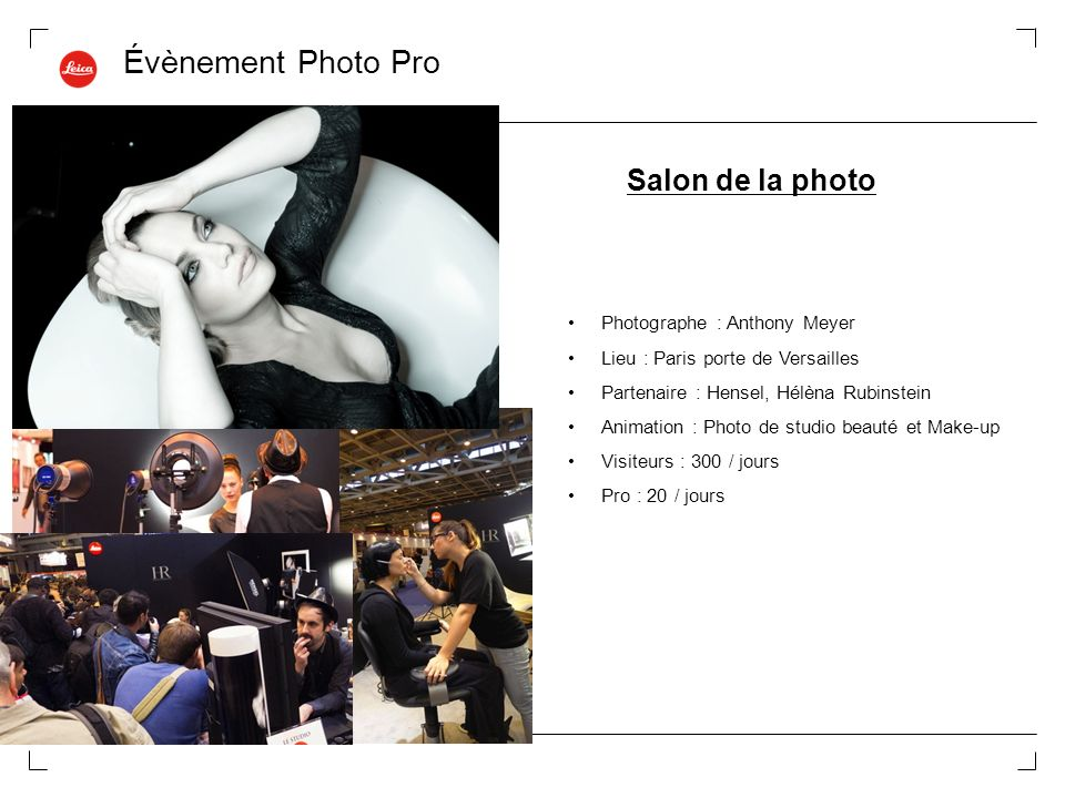 Évènement Photo Pro Salon de la photo Photographe : Anthony Meyer