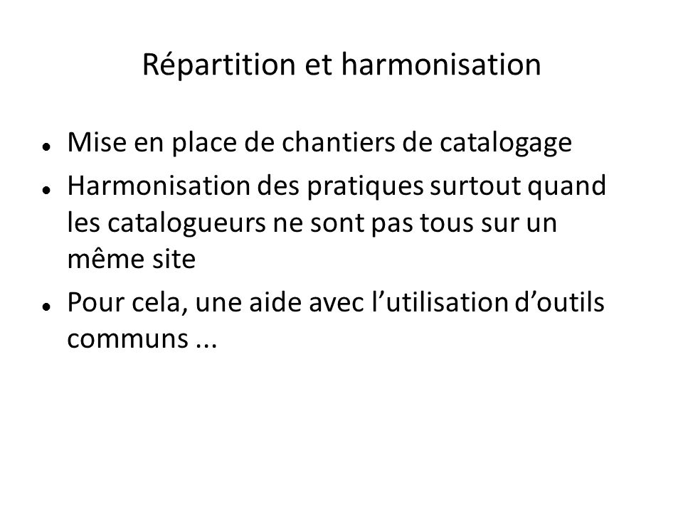 Contributions : répartition