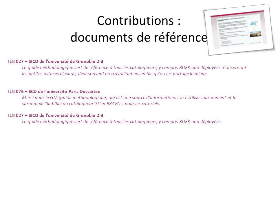 En vouloir davantage Les documents de référence