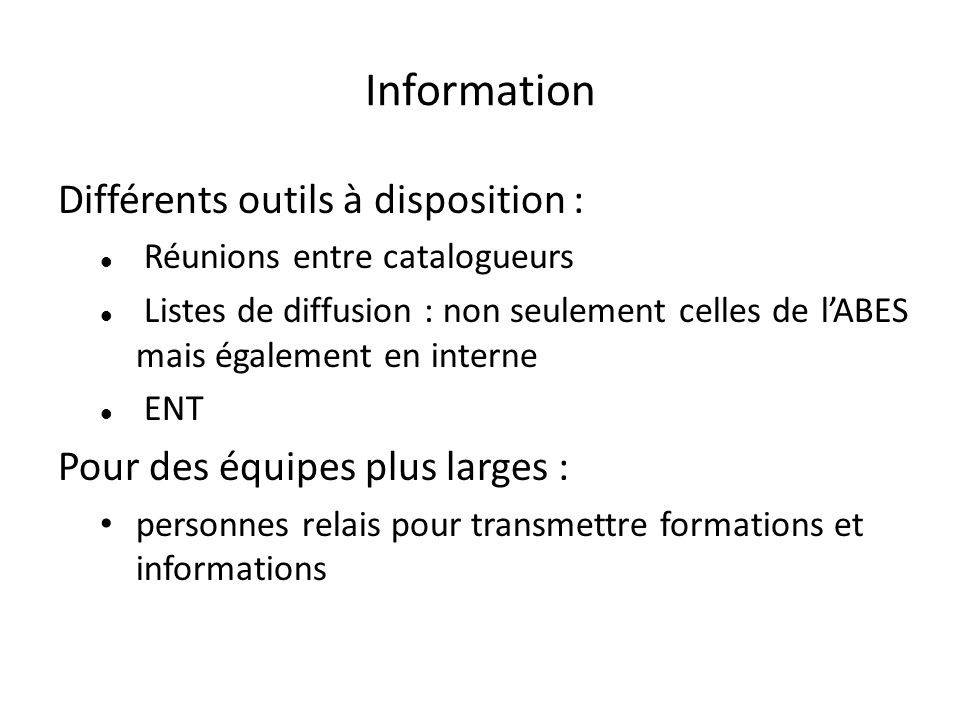 Contributions listes de diffusion et ENT :
