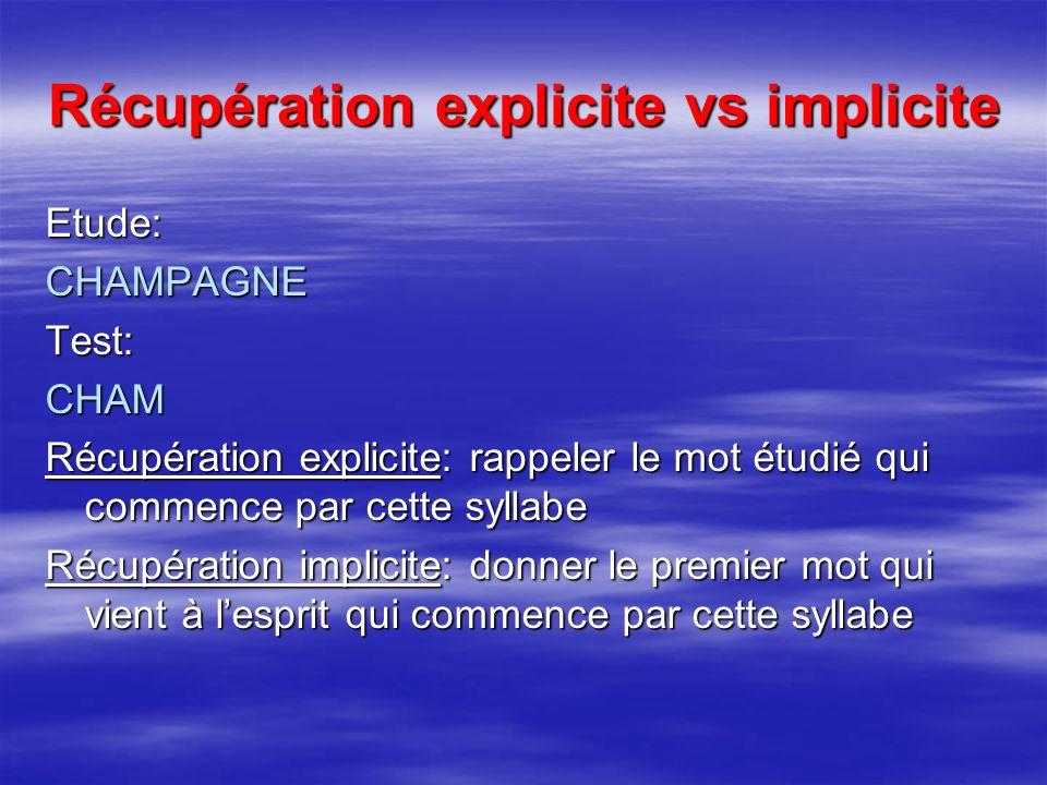 Récupération explicite vs implicite