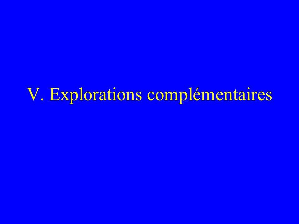 V. Explorations complémentaires
